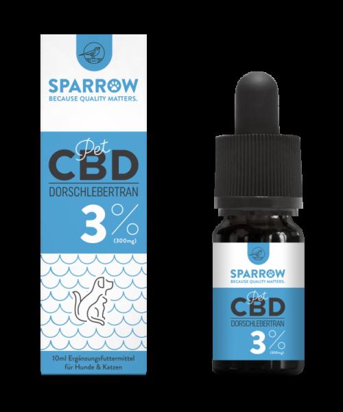 SPARROW CannaPet Dorschlebertran mit 3% CBD 10 ml