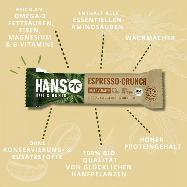 Bio-Hanfriegel Espresso Crunch - HANS Brainfood