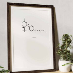 Hanfartig_Poster_Chemische_Formel_THC