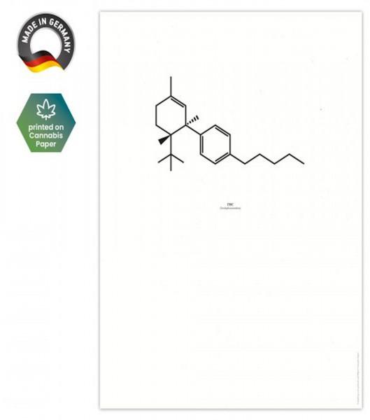 Chemische Formel THC - Hanfartig