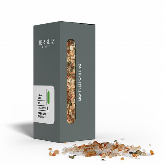 HERBLIZ Eucalyptus CBD Badesalz  150 mg CBD - 300 g