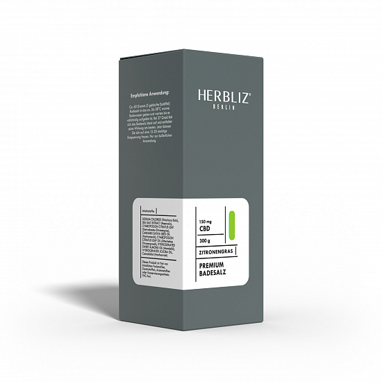 HERBLIZ Zitronengras CBD Badesalz  150 mg CBD - 300 g