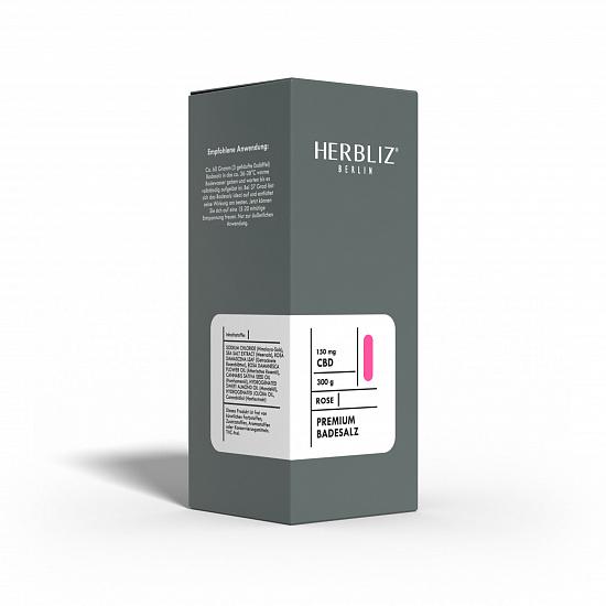 HERBLIZ Rose CBD Badesalz  150 mg CBD - 300 g