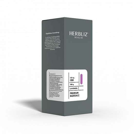 HERBLIZ Lavendel CBD Badesalz 150 mg CBD - 300 g
